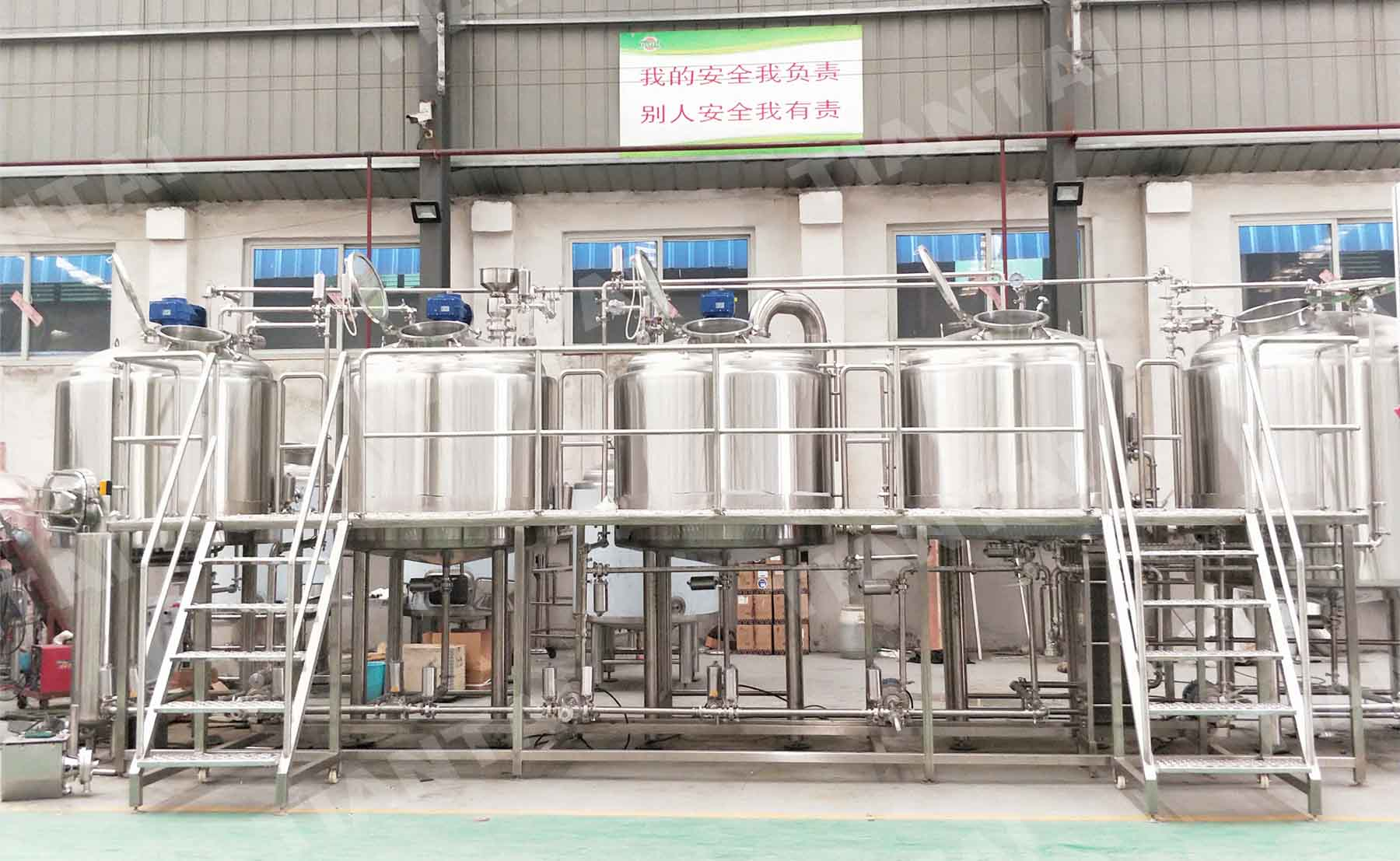Korea 1000L 4 Vessel Brewhouse and Beer brewing equipment are shipped!