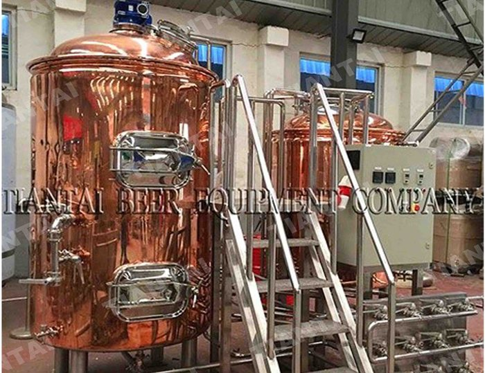 5 bbl Copper mashing equipment with CE ISO