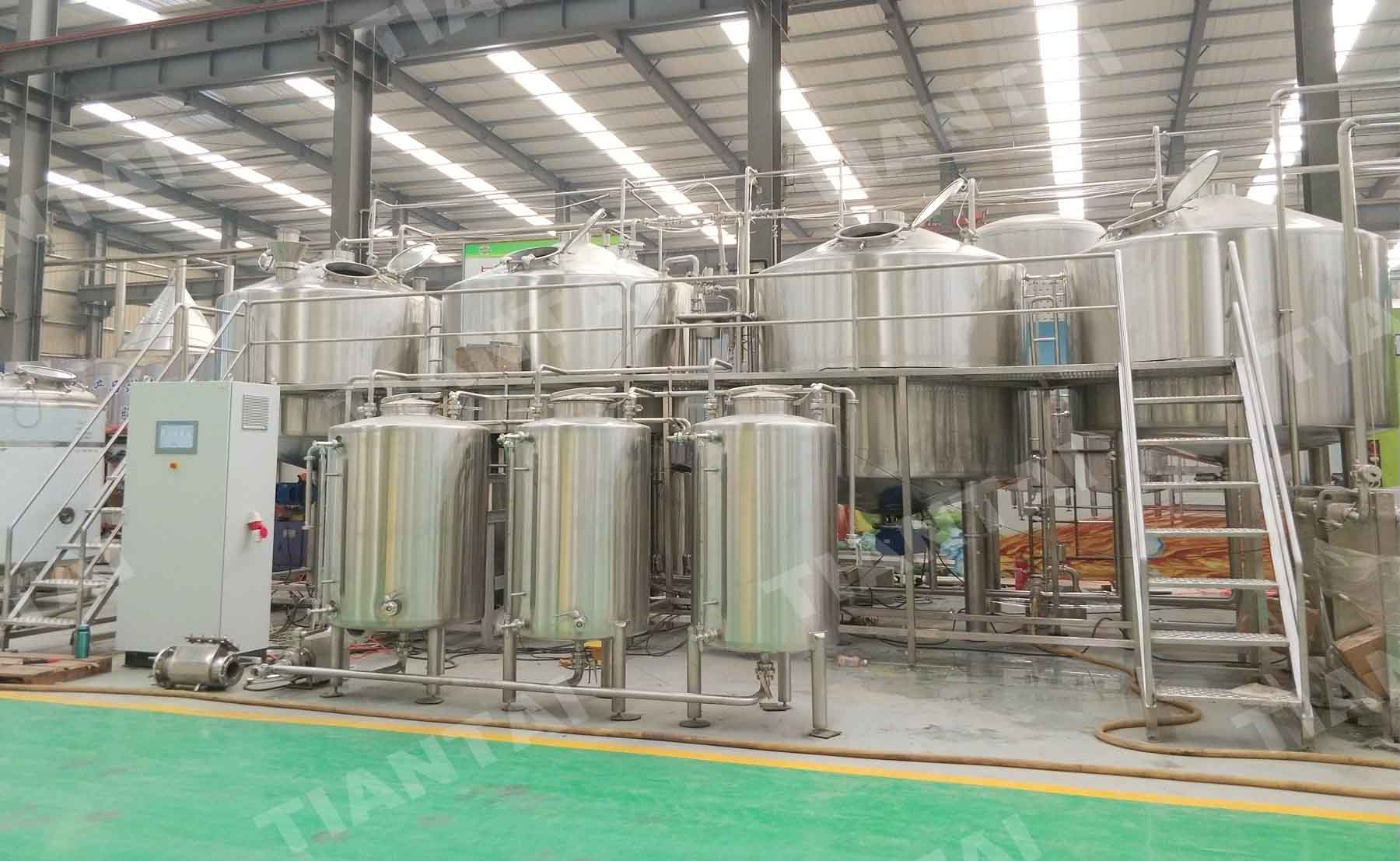 Finland 50HL /5000L Brewery equipment is just shipped