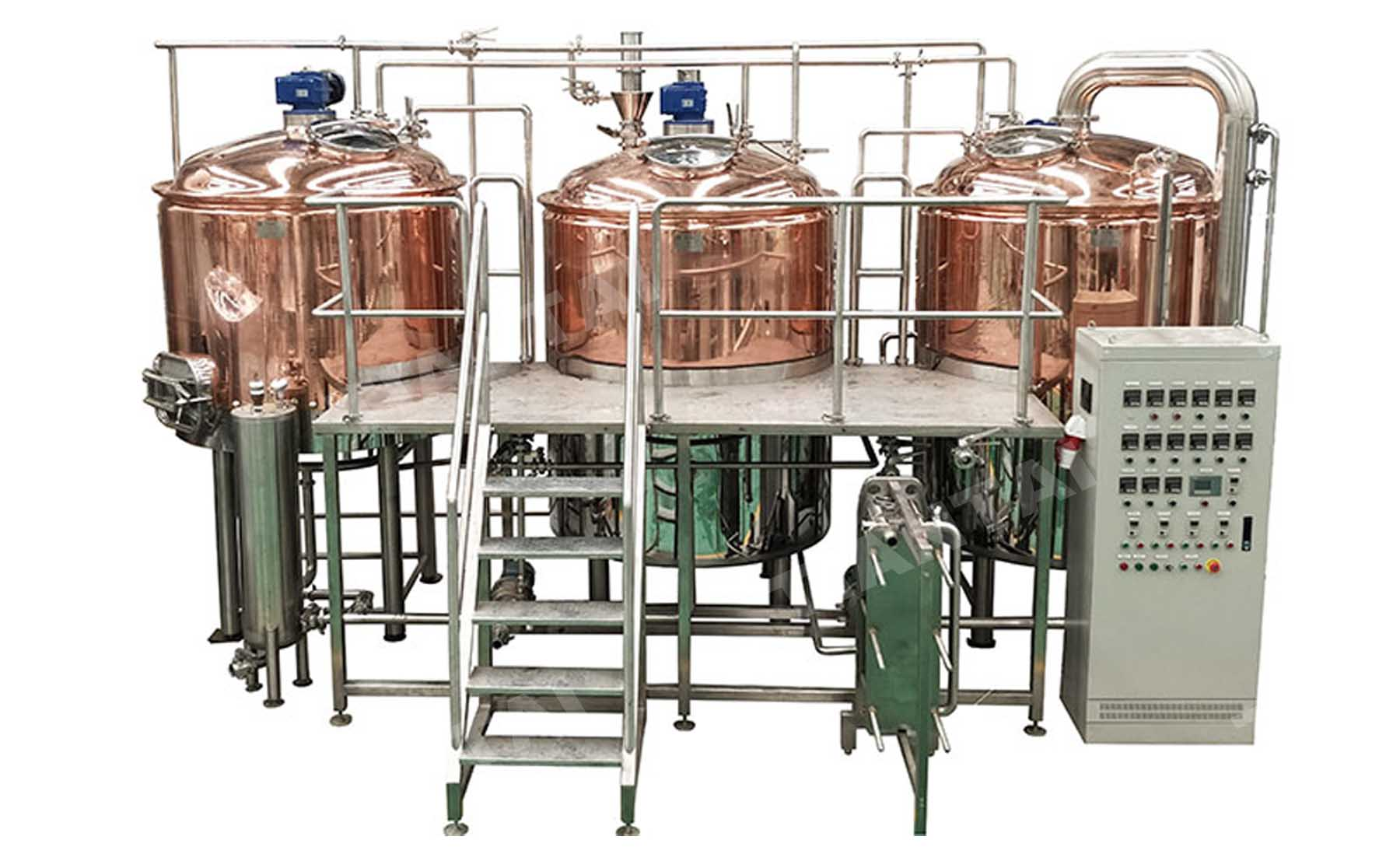 Argentina 10BBL Red Copper Brewery Equipment is being Installed