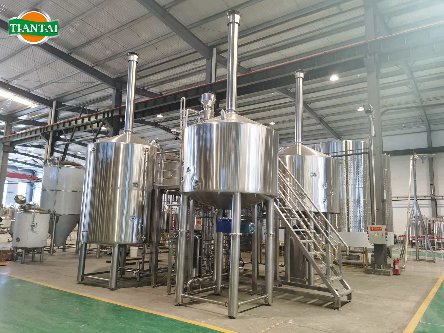 20BBL Steam heating four-vessel brewery equipment complete