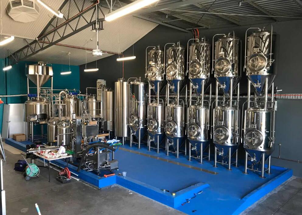 500L Mirror polished brewery system
