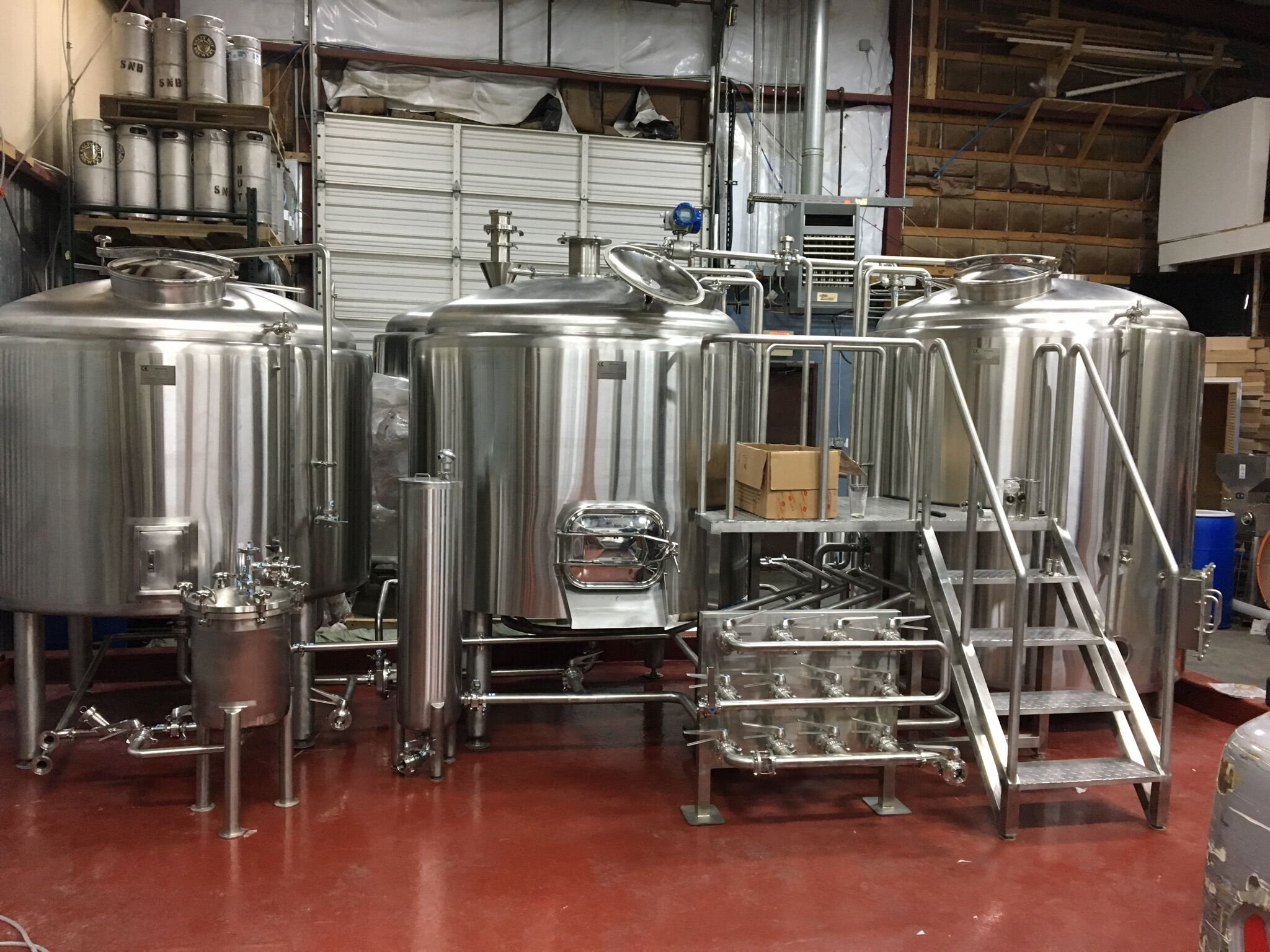 15BBL Beer Brewing Equipment is installed in America