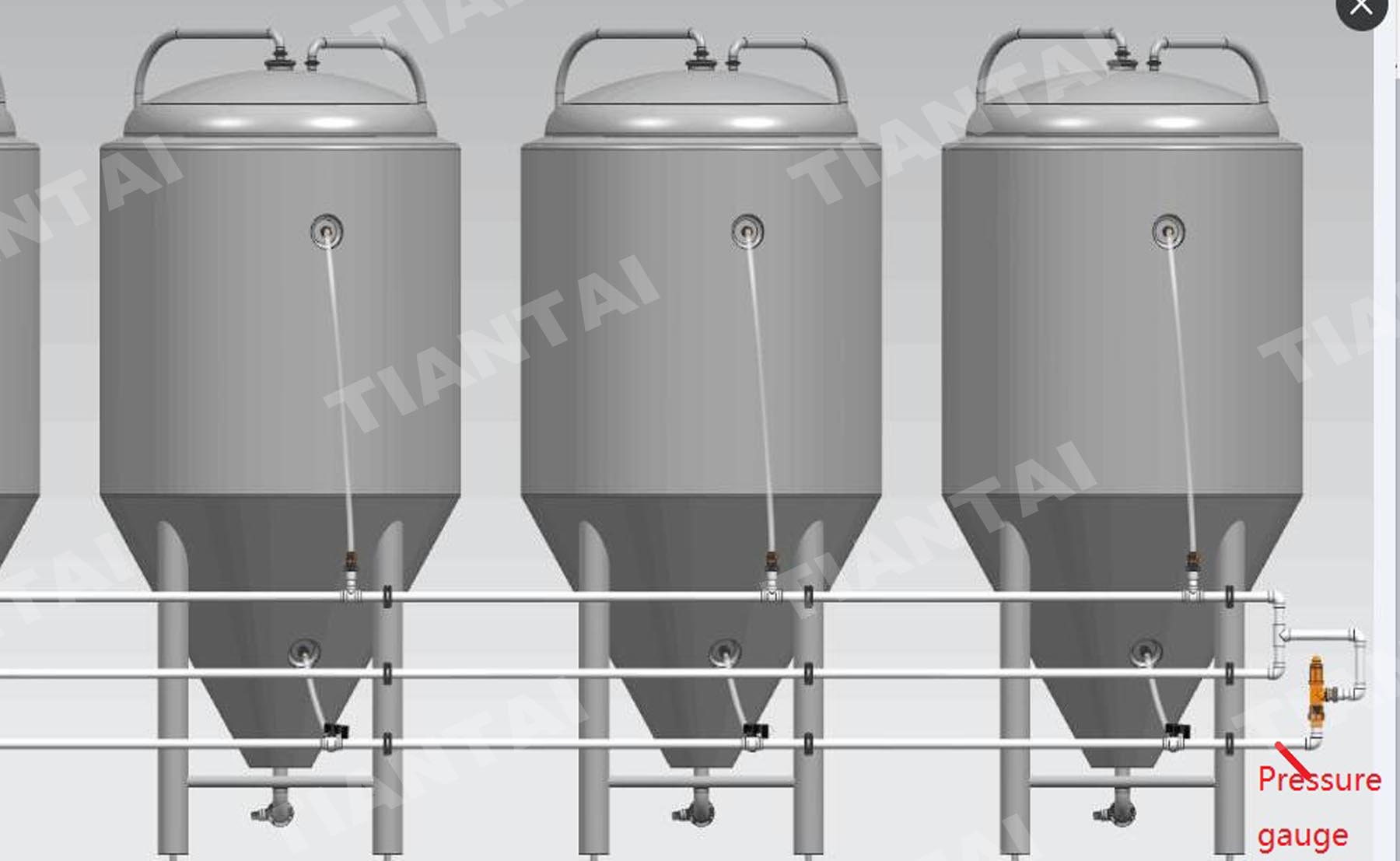 Glycol Water Pipe Connection ways for Brewery Equipment