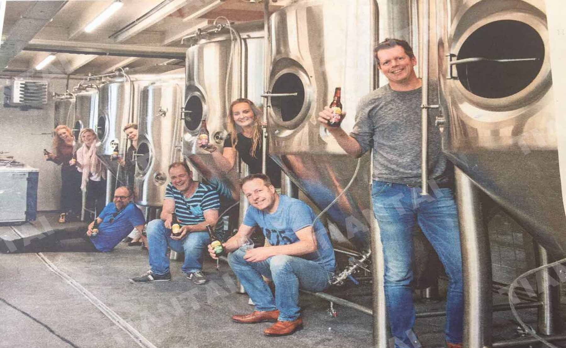 20HL brewery equipment for Hert Bier Meteigen Brewery in Netherlands is being installatio