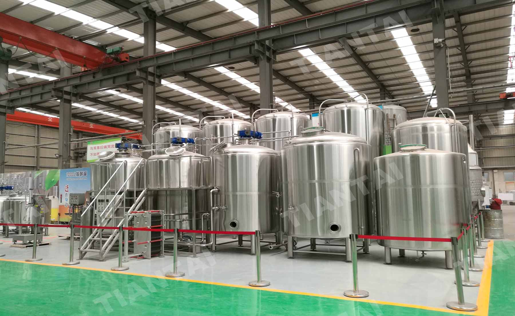 20HL 3 vesse brewhouse for New zealand customer