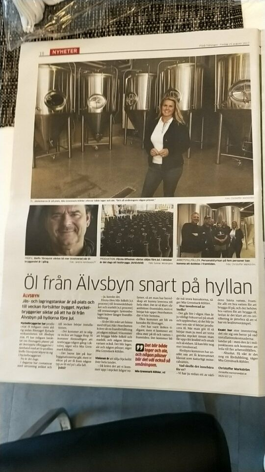 Sweden 20HL/2000L Alvsbyn Brewery will open soon!