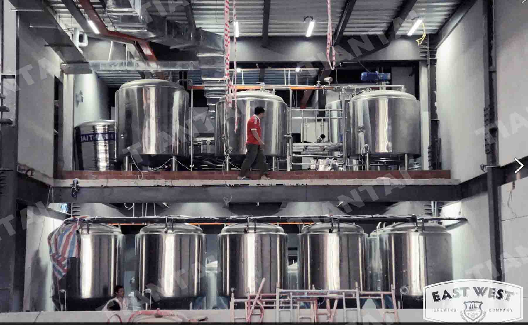 Vietnam 1500L/15HL Brewing Equipment has started to brew beer