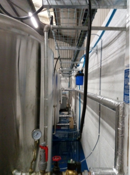 brewhouse steam pipes installation in uk