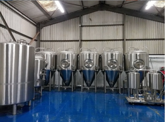 The brewery finished installation in UK