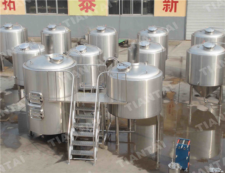 2000L microbrewery equipment with brewhouse and fermenters
