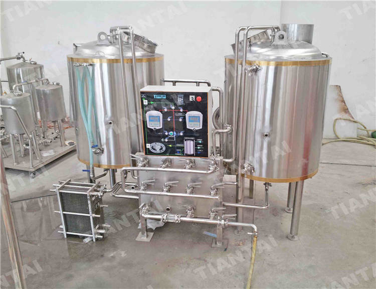 200l two vessel brewhouse system two vessel brewhouse for Craft kettle brewing equipment