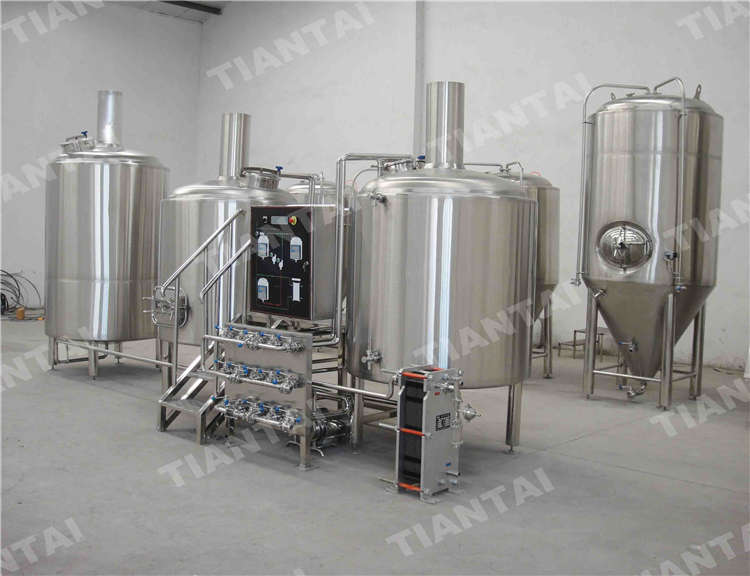 7 bbl stainless steel brewhouse system stainless steel for Craft kettle brewing equipment