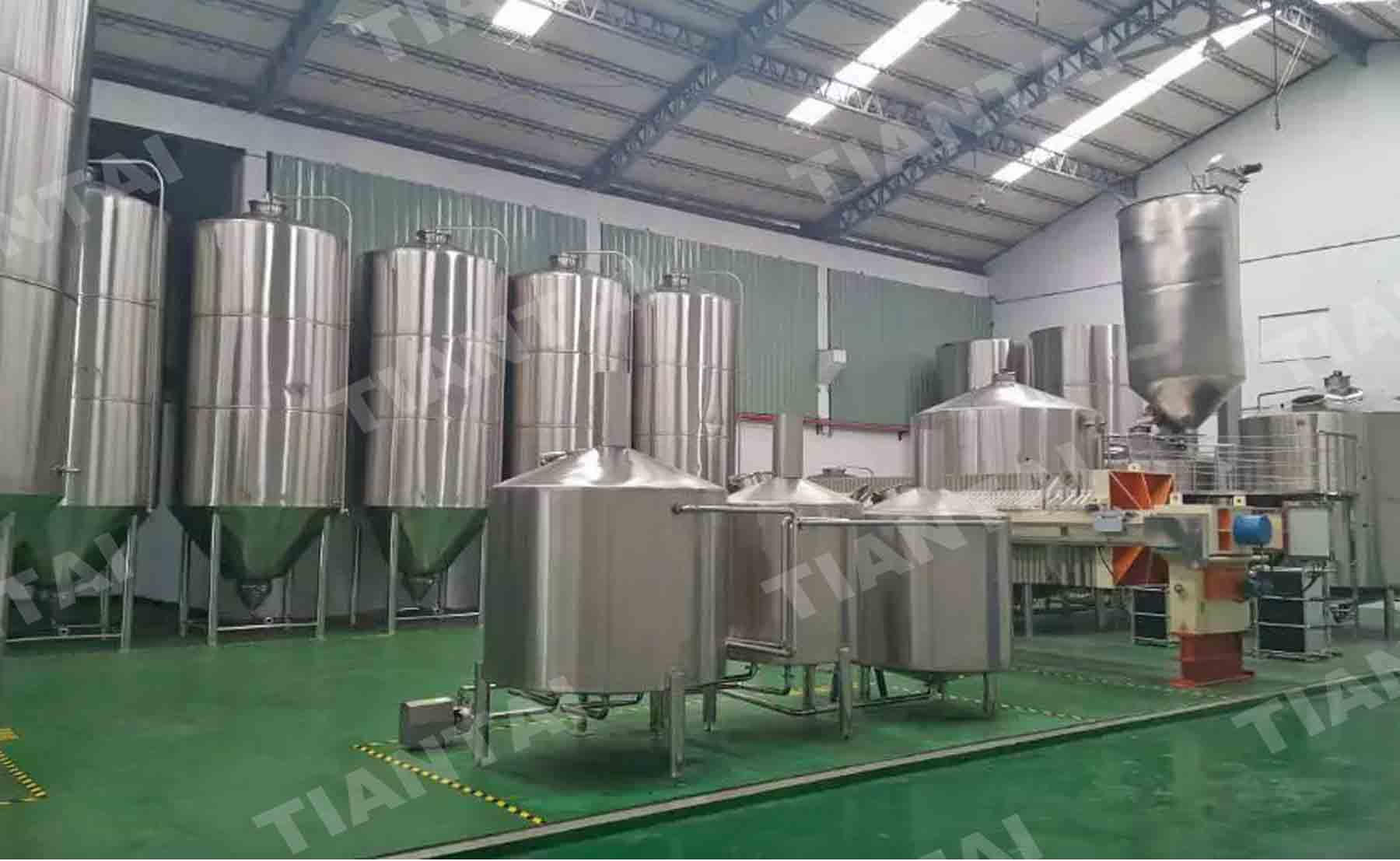 8000L double wall conical Fermenter