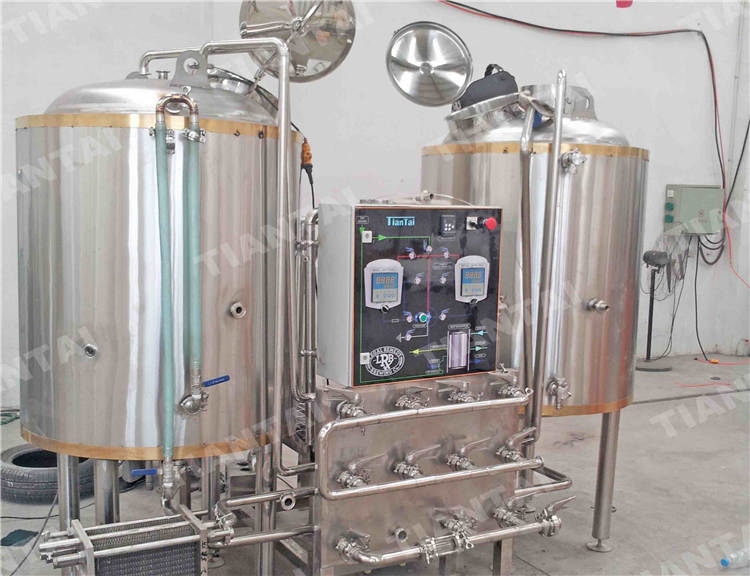 3bbl two vessel brewhouse system two vessel brewhouse for Craft kettle brewing equipment