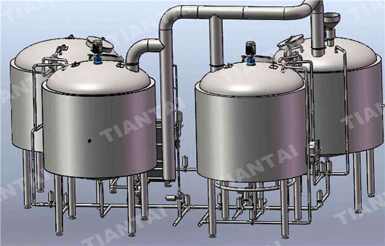 90 bbl stainess steel brewhouse system