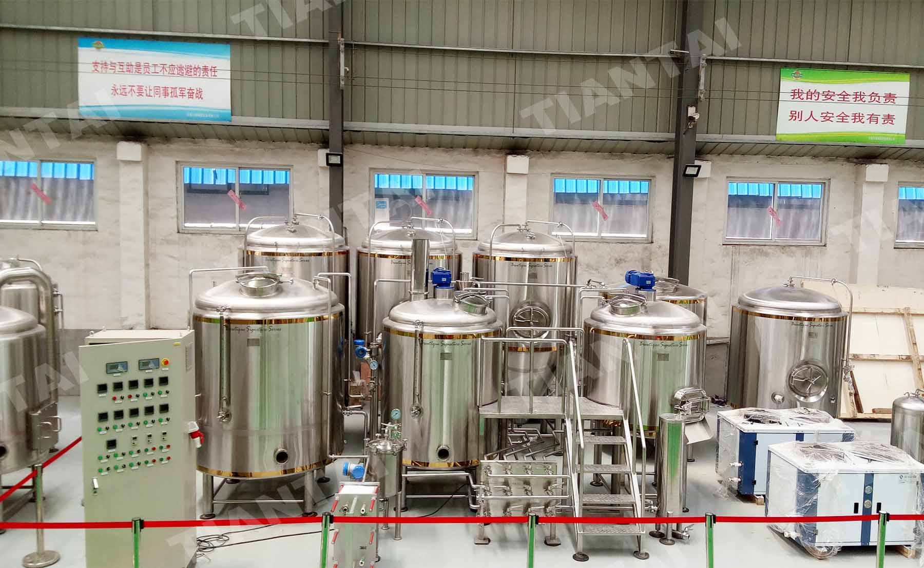 Australia customer's 1000L/10HL copper belt micro brew equipment is finished!