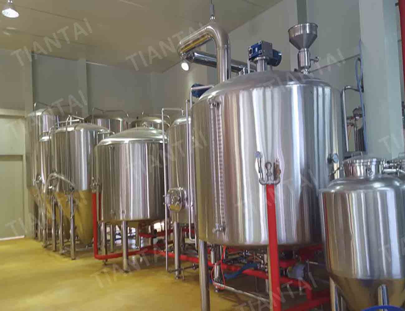 3000L Craft beer brewing equipment in Korea