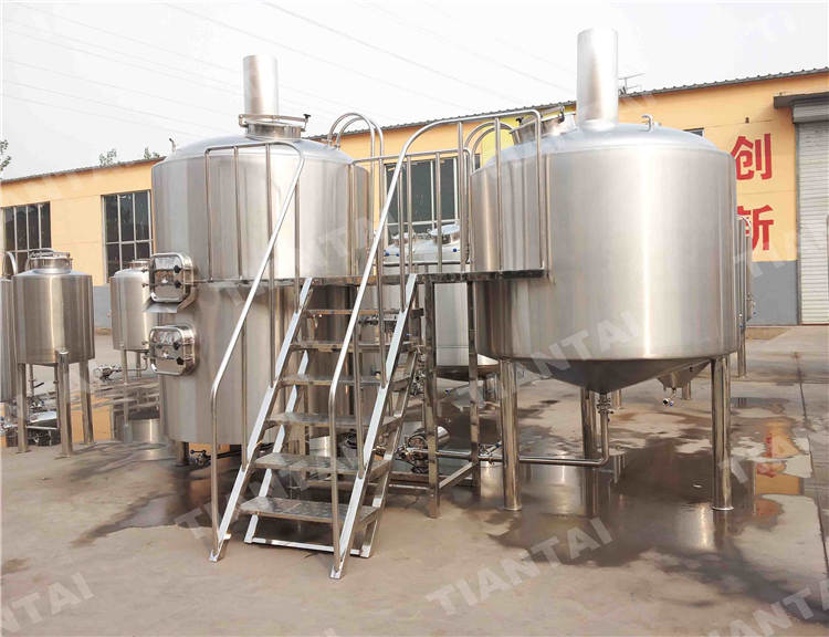 2000L beer brewing equipment three vessels combined