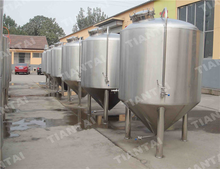 2000L fermentation tanks with 90 degree cone
