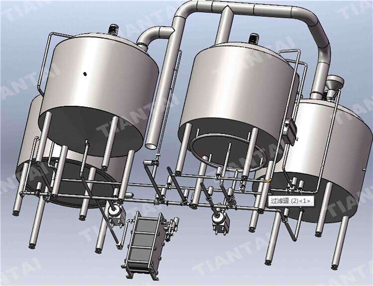 50 bbl stainless steel brewhouse system