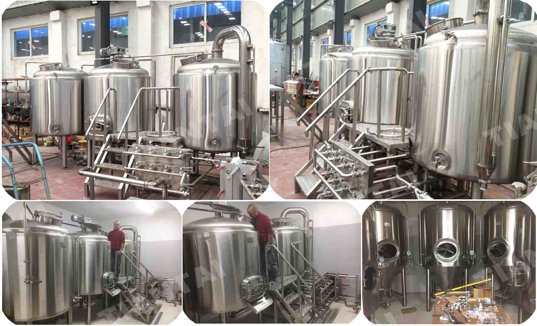 Two vessel craft micro brewery installed in Italy